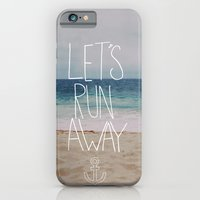 iPhone & iPod Case featuring Let's Run Away | Sandy Beach, Hawaii by Leah Flores