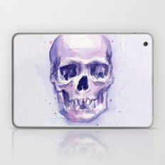 Skull Watercolor Purple Laptop & iPad Skin