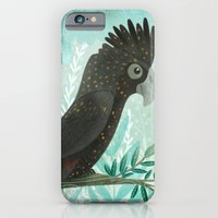 iPhone & iPod Case featuring Black Cockatoo by Stephanie Fizer Coleman