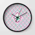 Oh Deer (teal) Wall Clock
