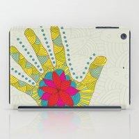 Flower hand iPad Case