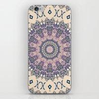 No. 20 Wisteria Arbor Way Regal Purple & Ivory Hugs and Kisses Mandala iPhone & iPod Skin
