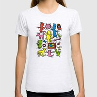 Haring - Simpsons Womens Fitted Tee Ash Grey SMALL