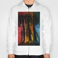 Colorful Space Needle Hoody