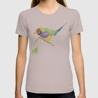 lady gouldian finch Womens Fitted Tee Cinder SMALL