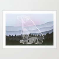 Geometric Nature - Bear (Full) Art Print