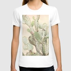 Cactus 2 Womens Fitted Tee White SMALL