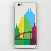Shapes of Austin. Accurate to scale. iPhone & iPod Skin