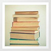 Stack Of Books Art Print