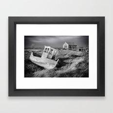 The Boat and Coal Shed, Thornham, Norfolk Framed Art Print