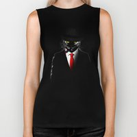 Mobster Cat Biker Tank