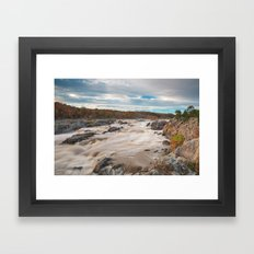Great Autumn Sky Falls Framed Art Print
