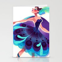 Peacock Tutu Stationery Cards