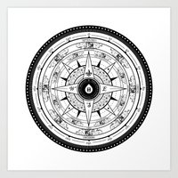 Compass Rose Art Print