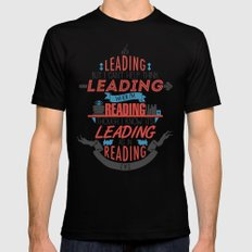 It's Leading SMALL Black Mens Fitted Tee
