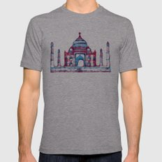 Taj Mahal Mens Fitted Tee Athletic Grey SMALL