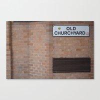 old churchyard part 2 Canvas Print