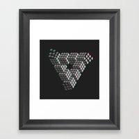 I'M PUZZL3D Framed Art Print