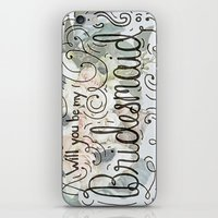 Will you be my bridesmaid? (Bouquet background) iPhone & iPod Skin