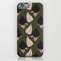 Black Rose Print  Slim Case iPhone 6s