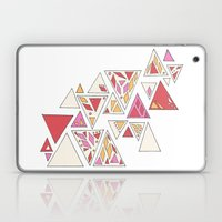 Geometric mosaic triangle pattern - red and pink Laptop & iPad Skin