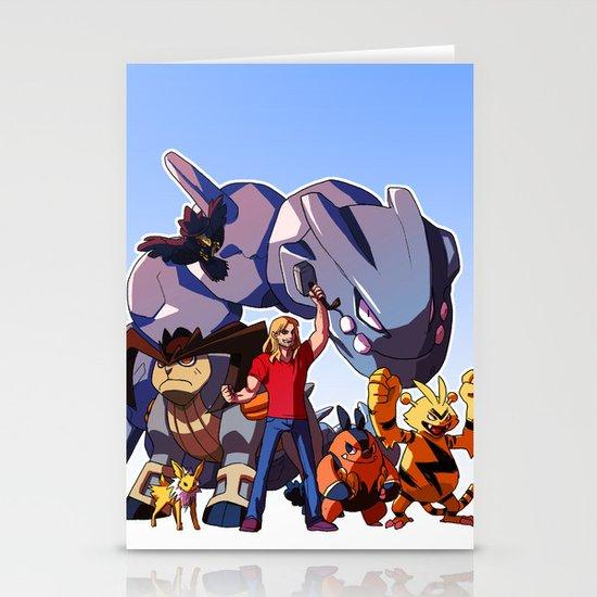 Pokemon Avengers-Thor Stationery Card