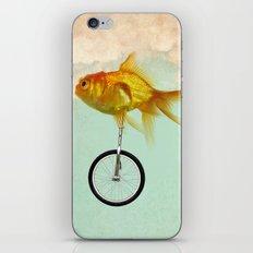 unicycle goldfish 02 iPhone & iPod Skin