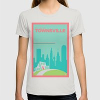 Welcome To Townsville Womens Fitted Tee Silver SMALL