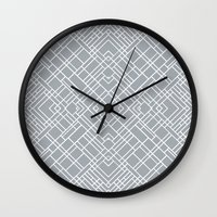 Map Outline 45 Grey Repeat Wall Clock