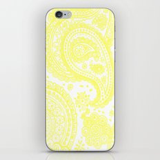 Yellow Paisley iPhone & iPod Skin