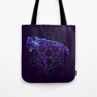 Sacred Hyena Color Tote Bag