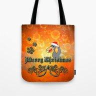 Christmas Crow Tote Bag