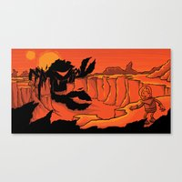The Beast of Shadow Valley Canvas Print