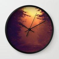 One Foggy Morning Wall Clock