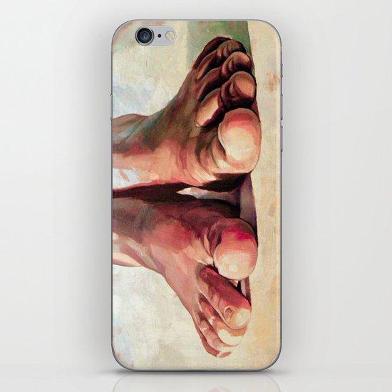Pensando con los pies iPhone & iPod Skin