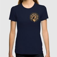 ligeia Womens Fitted Tee Navy SMALL