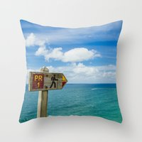 Nazaré, Portugal. Throw Pillow