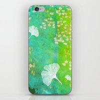 Green Ginkgo Tile iPhone & iPod Skin