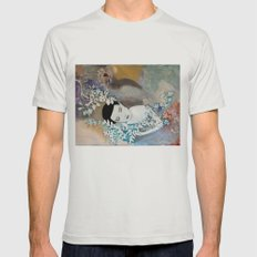 Slither Mens Fitted Tee Silver SMALL