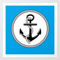 Anchors Up Art Print