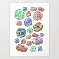 Mmm, Donuts Art Print