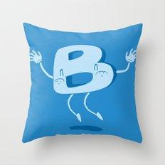 B Happy! Throw Pillow