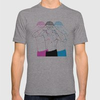 Manóculos Mens Fitted Tee Athletic Grey SMALL