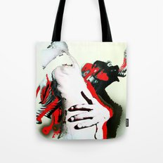 Elephant Naked Man Tote Bag