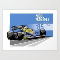 Nigel Mansell - 1985 Kya… Art Print
