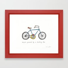 Bicycle Powered By A Sho… Framed Art Print