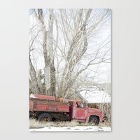 red truck Canvas Print