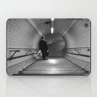 Empty London Underground stairs iPad Case