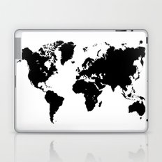 world map black shape country continent geography Laptop & iPad Skin