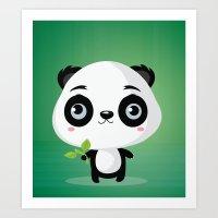 panda Art Prints featuring Panda by Maria Jose Da Luz